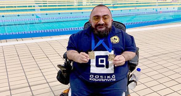 Δύο χρυσά για τον Δημήτρη Καρυπίδη - KavalaWebNews.gr